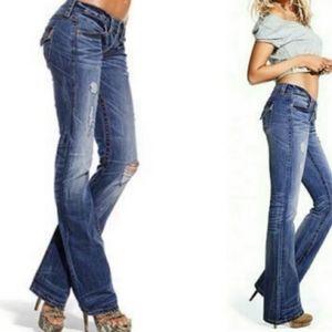 2 Pairs Victoria Secret Low 5 Flap Jeans, Size 4P